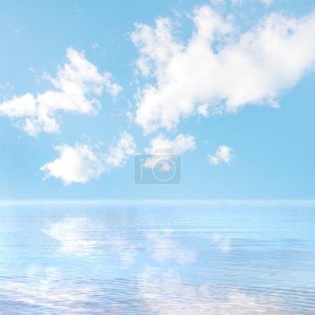Photo pour Bleu mer et ciel - image libre de droit