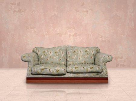 floral vintage sofa
