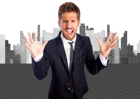 Foto de Empresario gritando - Imagen libre de derechos