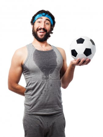 sportsman with football ball