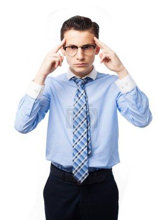 Photo pour Homme d'affaires concentré - image libre de droit