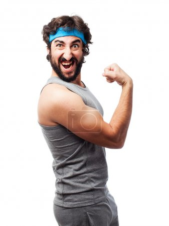Photo for Crazy strong man - Royalty Free Image