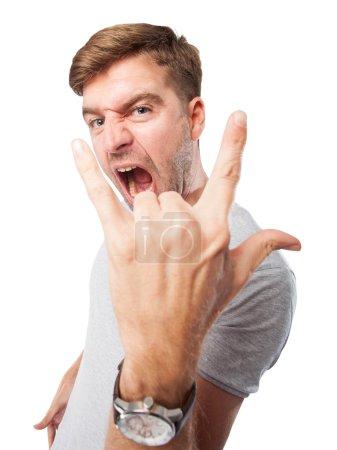 disagreement man sign