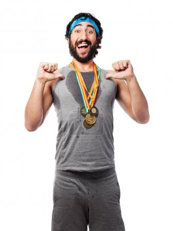 Success sportsman