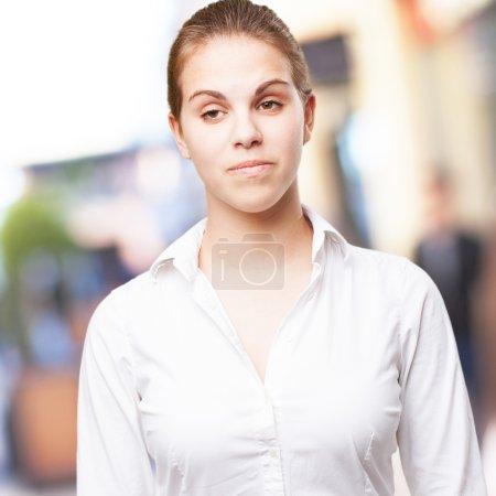 arrogant blond woman