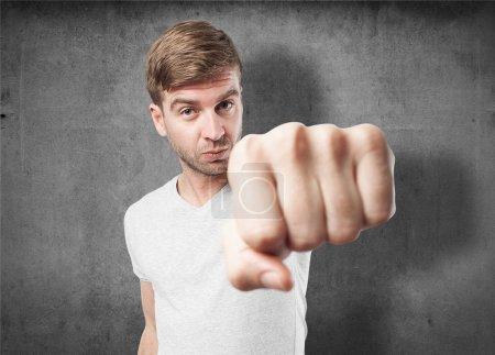 man fist gesture