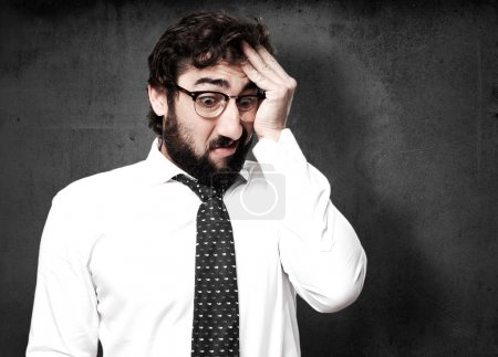 Photo for Stressed businessman portrait - Royalty Free Image