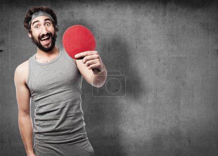 sportsman playing ping pong