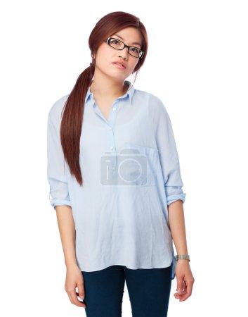 Photo for Sad chinese woman boring - Royalty Free Image