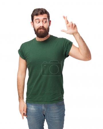confused young man cross fingers
