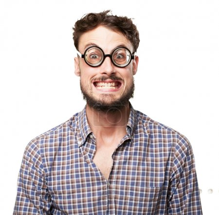 Photo for Crazy young man joking - Royalty Free Image