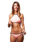 Happy young woman with bikini