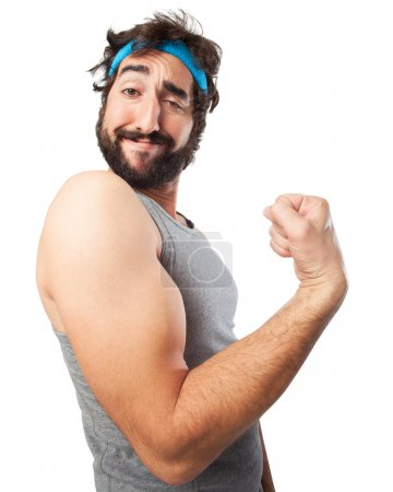 sport man strong concept