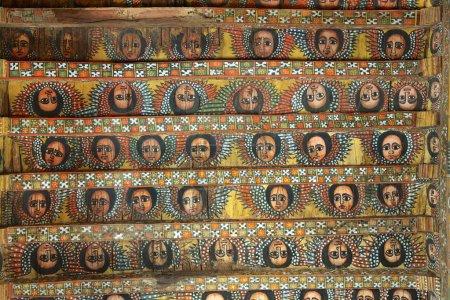 Unique ceiling paintings in Debre