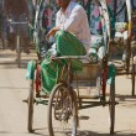 Постер, плакат: Rickshaw waits for passengers at the street in Bandarban Bangladesh