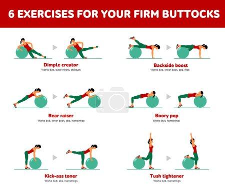 Aerobic icons. Firm buttocks