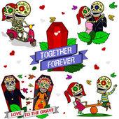 Funny skeletons Together forever