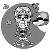 Skeletons T-shirt Meditacion Man