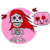 Skeletons T-shirt Meditacion Woman