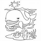 Wale im Meer