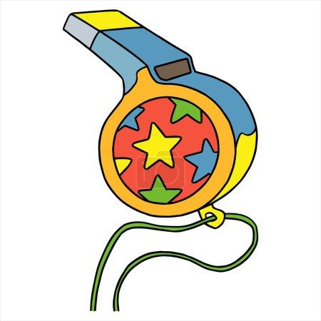 Whistle cartoon illustration isolated on white