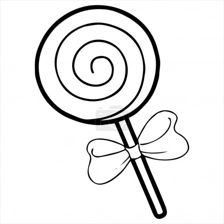 lollipop Isolated illustration on white background