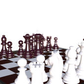 3d illustration of chess  situation