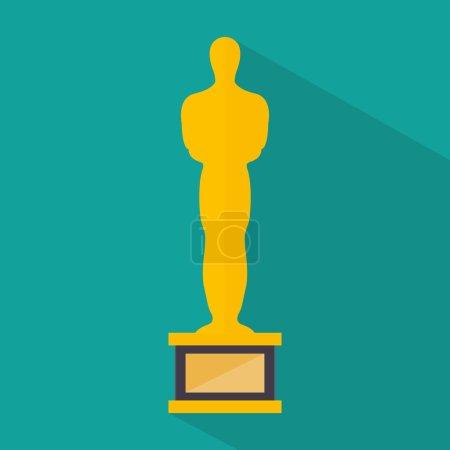 Gold movie statuette