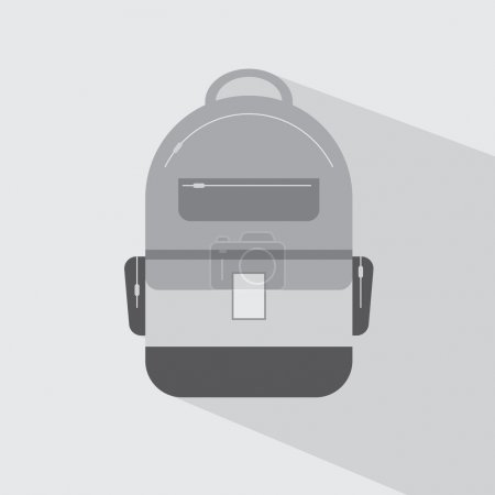 Illustration for Backpack Icon - Royalty Free Image
