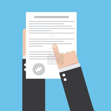 Illustration pour Préparation icône du contrat d'affaires . - image libre de droit