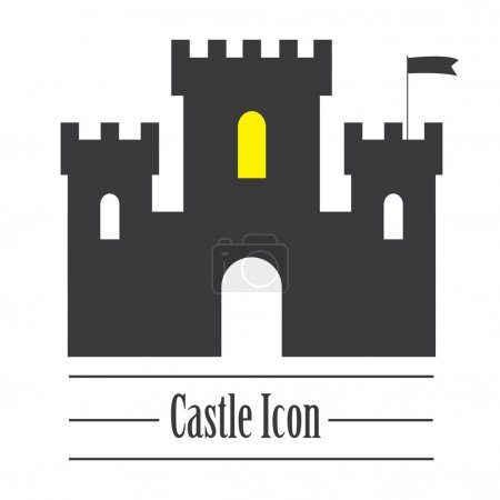 Castle icon or sign