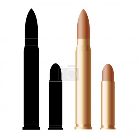 Illustration for Set of bullets on white background - Royalty Free Image