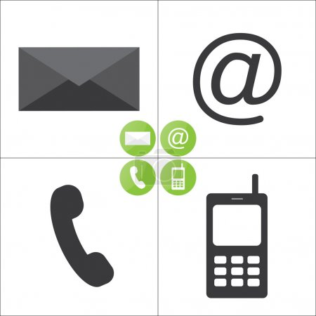 Email and phone mobile icons