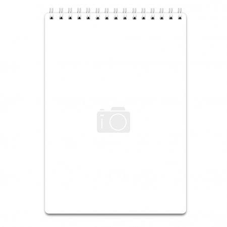 Blank realistic spiral notepad  isolated on white,...