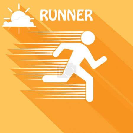One running man