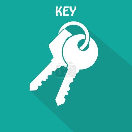 White Key Icon