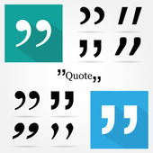 Quote icons on white