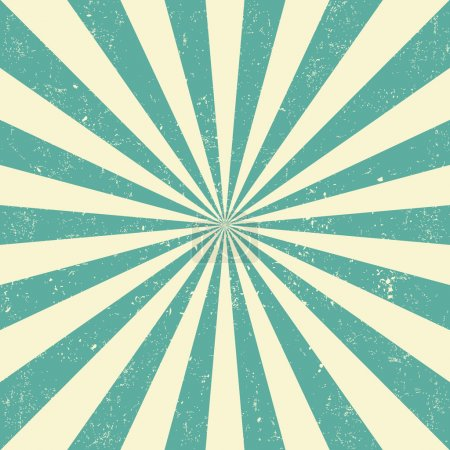 Illustration for Retro Vintage sun background - Royalty Free Image
