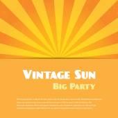 Vintage sun background