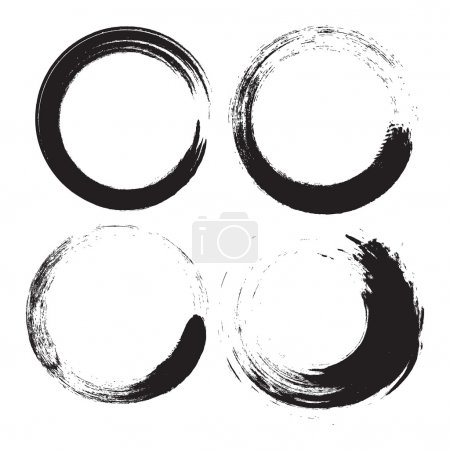 Illustration for Vector Grunge Logo black circles - Royalty Free Image