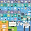 Flat icon Mega color collection business, economic...
