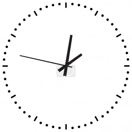 Illustration for Black Clock on white background - Royalty Free Image