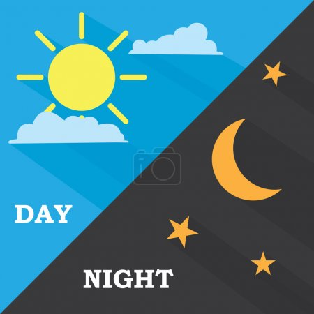 Sun and moon, day and night