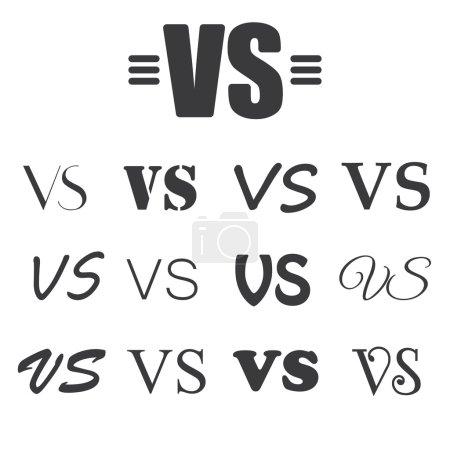 Black VS Letters on white