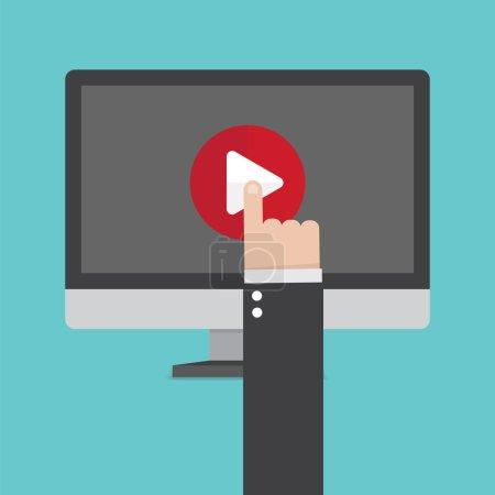 Illustration pour Concept média. Design plat élégant - image libre de droit