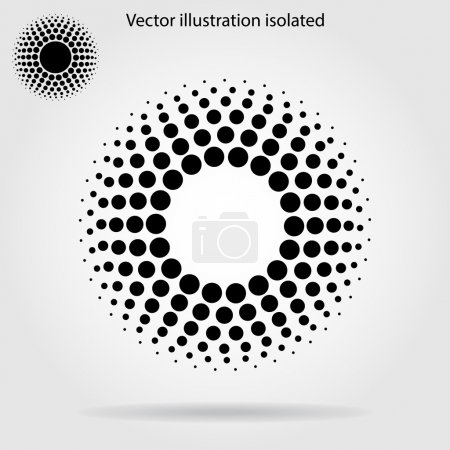 Illustration for Halftone dots circle background - Royalty Free Image