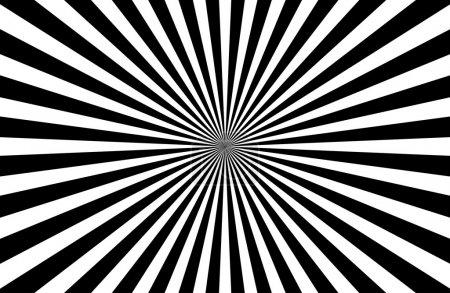 Illustration pour Sunburst noir et blanc de fond - image libre de droit