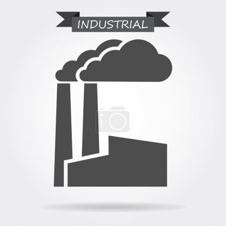 Industrial building icon