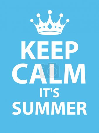 Summer keep calm