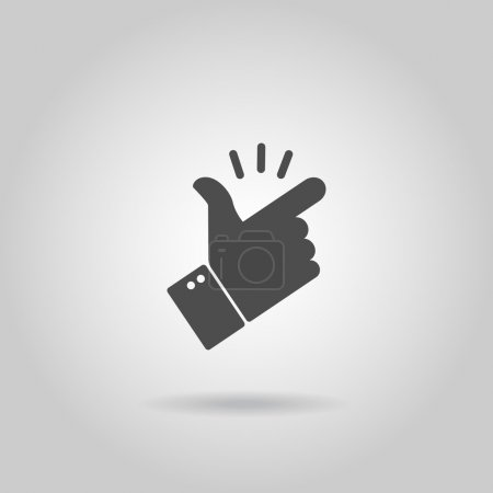 Illustration for Snap of the fingers icon on gray background - Royalty Free Image